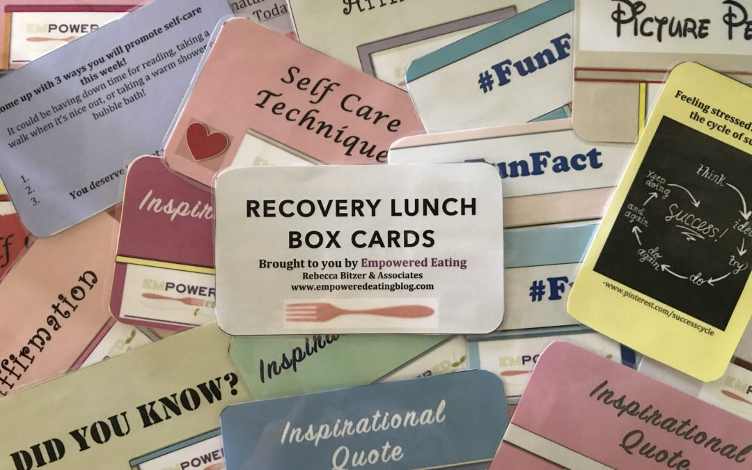 Recovery Cards for Mealtime Inspiration